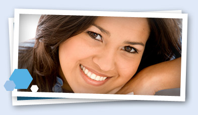 smiling woman dark hair